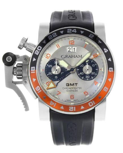Graham CHRONOFIGHTER OVERSIZE BIG DATE GMT 2OVASGMT.S01A.K10B Replica Watch