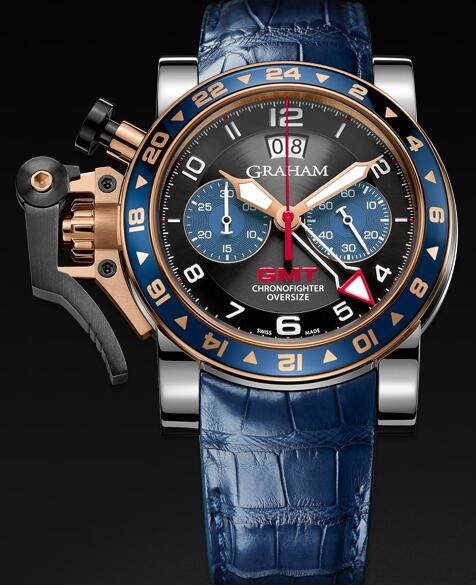 Graham Chronofighter Oversize GMT Blue 2OVGG.B26A Replica Watch