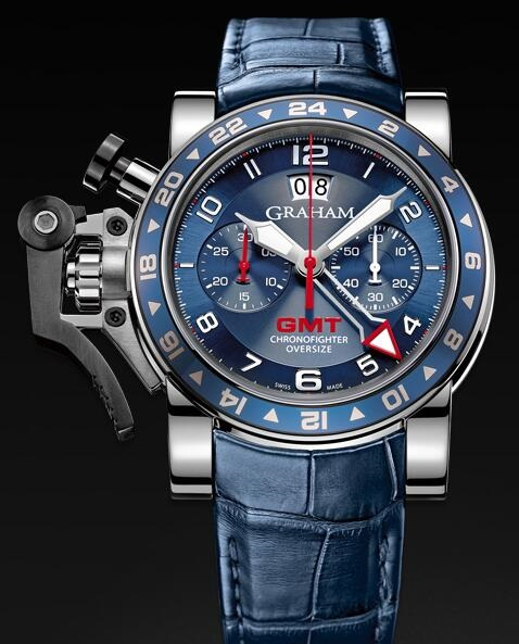 Graham Chronofighter Oversize GMT Blue 2OVGS.U06A Replica Watch