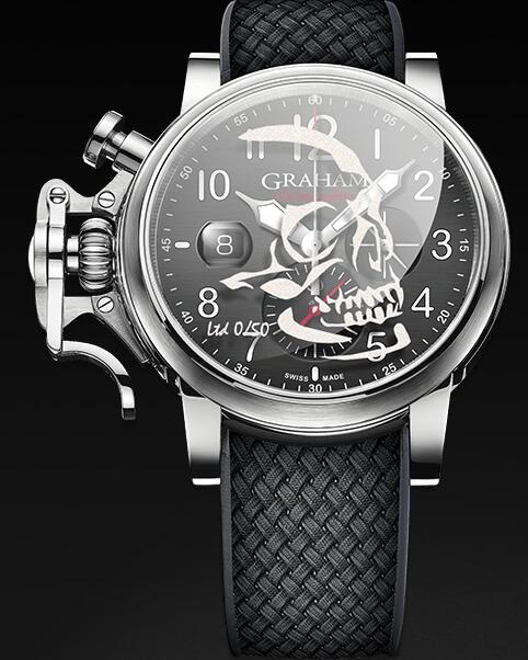 Graham Chronofighter Grand Vintage SKULL 2CVDS.B29D Replica Watch