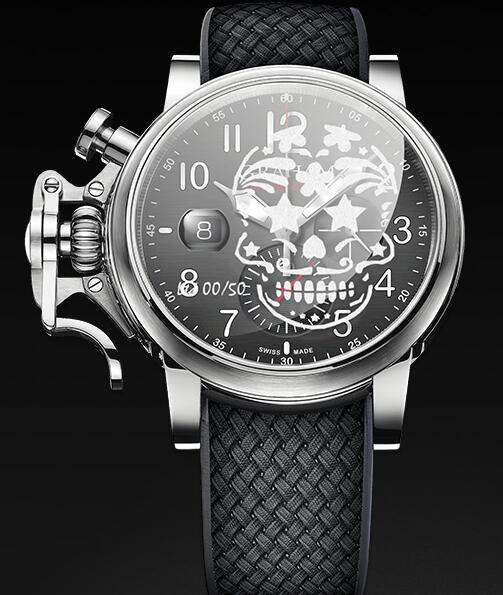 Graham Chronofighter Grand Vintage SKULL 2CVDS.B29E Replica Watch