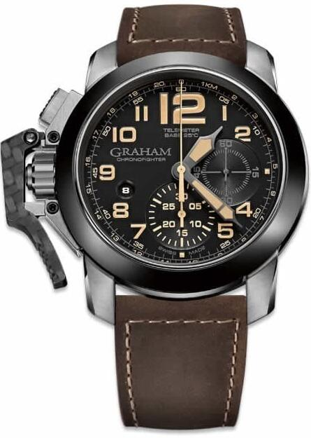 Graham Chronofighter Steel Black Dial 2CCAC.B02A Replica Watch