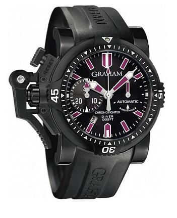 Graham Chronofighter Oversize Diver Deep Purple 2OVEZ.B24A Replica Watch