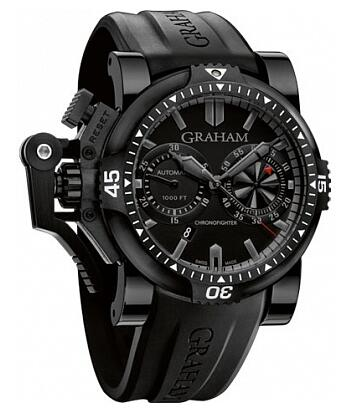 Graham Chronofighter Oversize Diver Deep Black 2OVEB.B38A Replica Watch