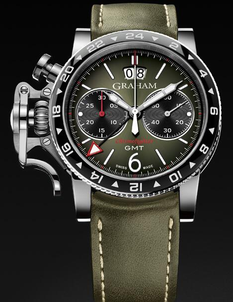 Graham Chronofighter Vintage GMT 2CVBC.G01A Replica Watch