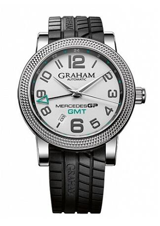 Graham Mercedes GP Petronas Mercedes GP Time Zone Silver 2MECS.S03A Replica Watch