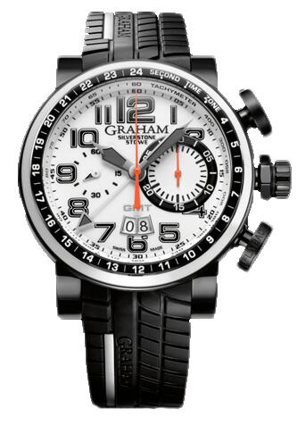Graham Silverstone Stowe GMT Tracklighted 2BLCD.W04A Replica Watch