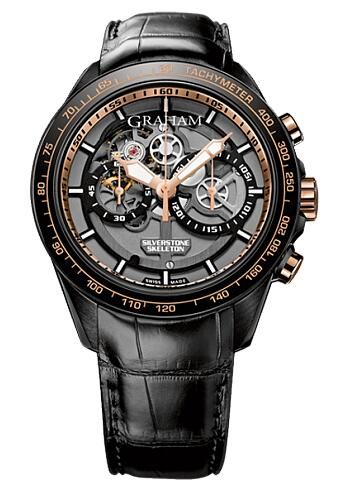 Graham Silverstone Skeleton Steel & Gold 2STAZ.B02A Replica Watch