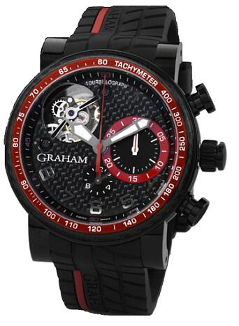 Graham Tourbillograph Trackmaster Black and Red 2TWCB.B08A.K60D Replica Watch