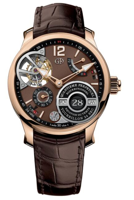 Greubel Forsey QP A Equation Red Gold Brown Dial Replica Watch