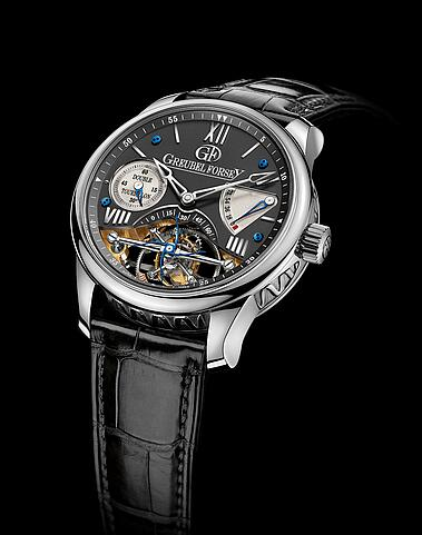 Greubel Forsey Double Tourbillon 30 White gold Black Replica Watch