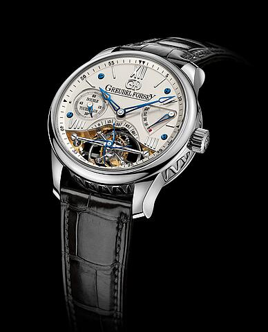 Greubel Forsey Double Tourbillon 30 White gold Silver Replica Watch