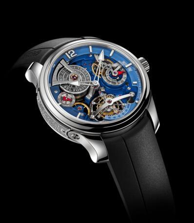 Greubel Forsey Double Tourbillon Technique Blue Platinum Replica Watch