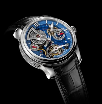 Greubel Forsey Double Tourbillon Technique Blue White gold Replica Watch