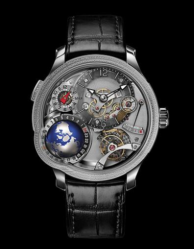 Greubel Forsey GMT Earth White gold Replica Watch