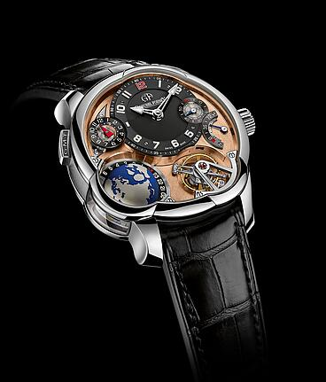 Greubel Forsey GMT Mouvement 5N Platinum Replica Watch