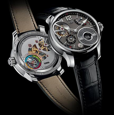 Greubel Forsey QP a Equation White gold Black Replica Watch