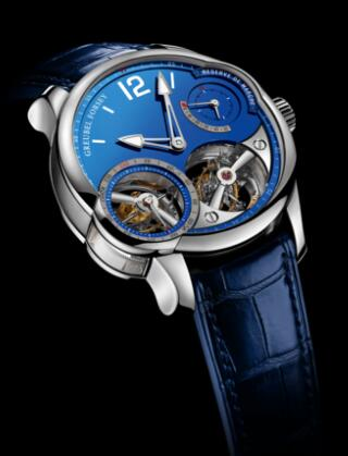Greubel Forsey Quadruple Tourbillon Blue Platinum Replica Watch