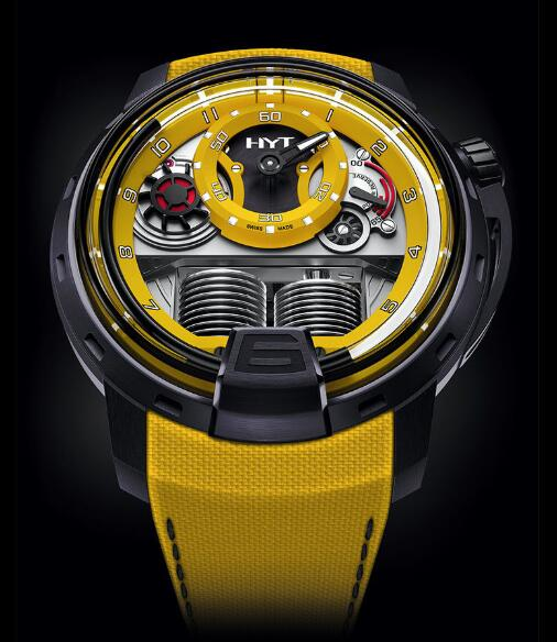 HYT H1 Colorblock YELLOW 148-TT-80-NF-FY Replica watch