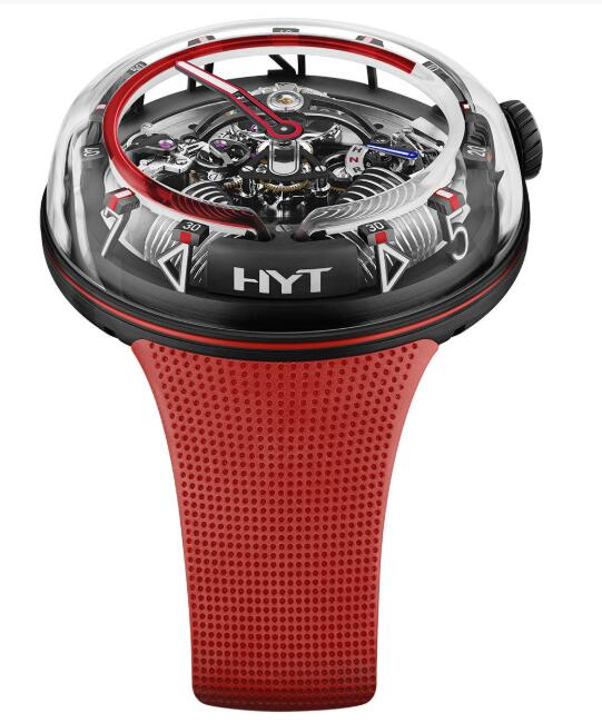 Best HYT H20 Red Fluid H02390 Replica watch