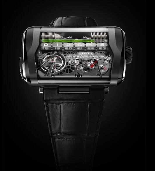HYT H3 TITANIUM & PLATINUM 361-TP-01-GF-AG Replica watch