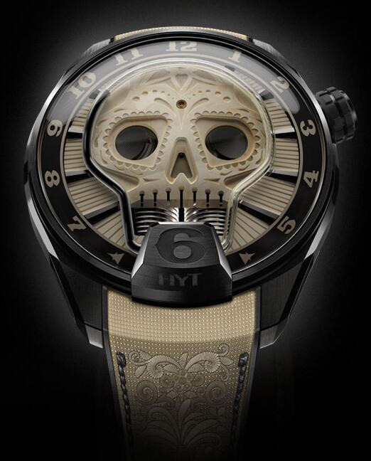 HYT 151-DL-48-NF-BB SKULL 51 MM Replica watch