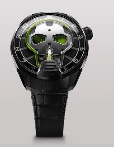 HYT SKULL 51 MM 151-TD-41-GF-AB Replica watch