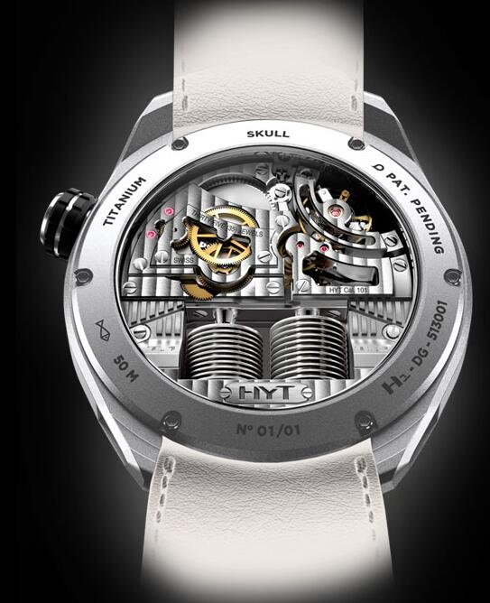 HYT 151-TT-46-BF-AW SKULL 51 MM Replica watch