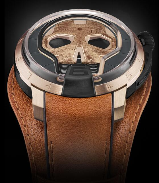 HYT S48-DG-57-NF-LM SKULL 48.8 MM Replica watch