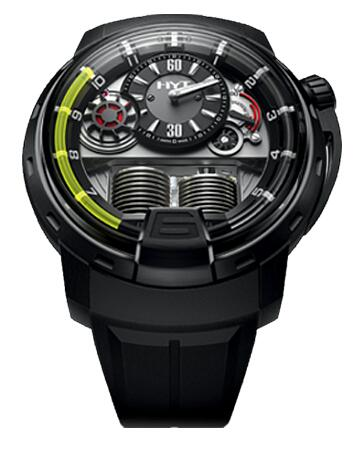 HYT 148-DL-21-GF-LC H1 TITANIUM BLACK DLC Replica watch