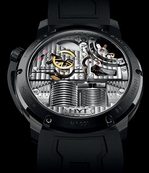 HYT 148-DL-21-GF-RU-YS H1 Diamond dome chrysoberyl Replica watch