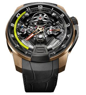 HYT 248-DG-00-GF-AB H2 BLACK DLC & PINK GOLD Replica watch