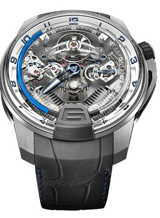 HYT 248-TW-OO-BF-RA H2 TITANIUM & WHITE GOLD BLUE Replica watch