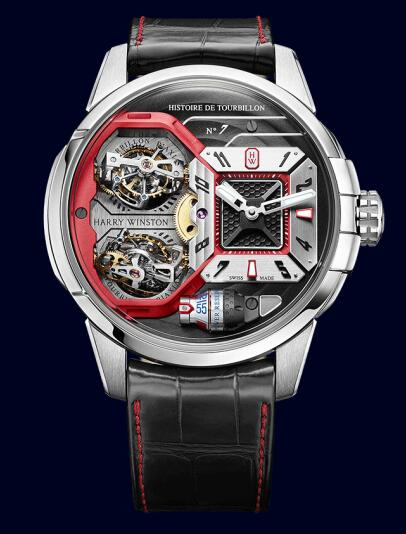 Harry Winston Histoire de Tourbillon 7 HCOMDT51WW002 Replica Watch
