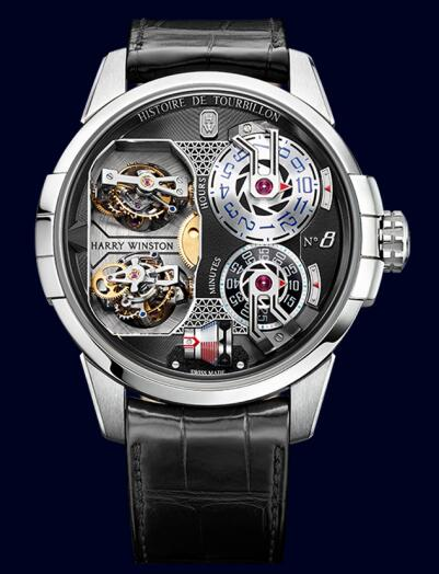 Harry Winston Histoire de Tourbillon 8 HCOMDT51WW003 Replica Watch