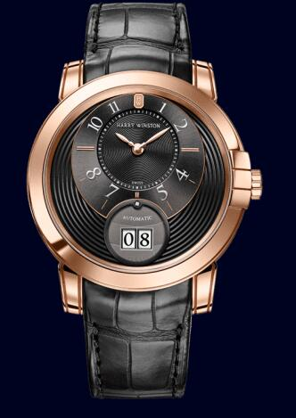 Harry Winston Midnight Big Date MIDABD42RR002 Replica Watch