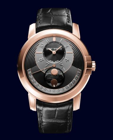 Harry Winston Midnight Moon Phase Automatic 42mm MIDAMP42RR002 Replica Watch