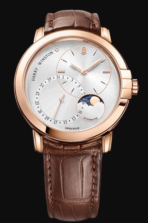Harry Winston Midnight Date Moon Phase Automatic 42mm MIDAMP42RR003 Replica Watch