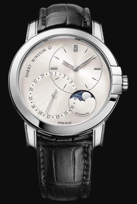 Harry Winston Midnight Date Moon Phase Automatic 42mm MIDAMP42WW003 Replica Watch