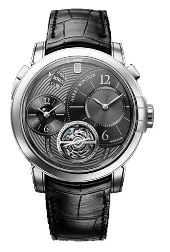Harry Winston Midnight GMT Tourbillon PT MIDATG45PP001 Replica Watch
