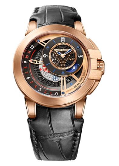 Harry Winston Ocean Dual Time OCEATZ44RR011 Replica Watch