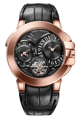 Harry Winston Ocean Tourbillon GMT OCEATG45RR003 Replica Watch