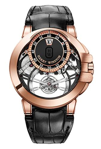 Harry Winston Ocean Tourbillon Jumping Hour OCEMTJ45RR001 Replica Watch