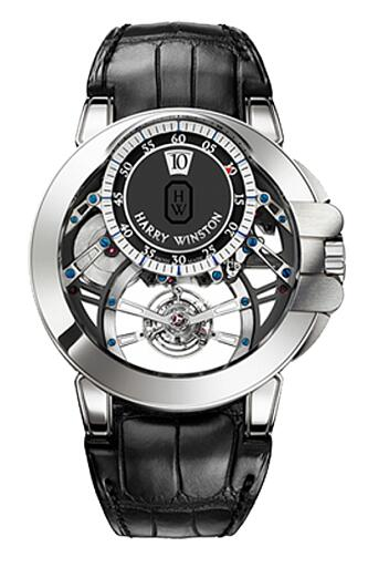 Harry Winston Ocean Tourbillon Jumping Hour OCEMTJ45WW001 Replica Watch