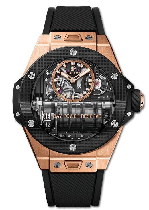 HUBLOT BIG BANG MP-11 POWER RESERVE 14 DAYS KING GOLD 3D CARBON 911.OQ.0118.RX watch Replica
