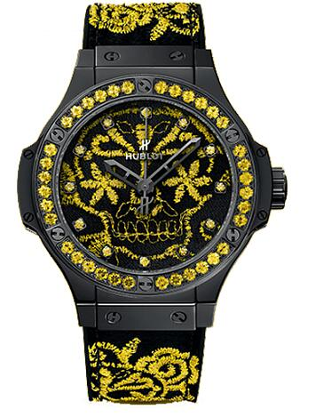 HUBLOT Big Bang Broderie Sugar Skull Fluo Sunflower 343.CY.6590.NR.1211 watch Replica