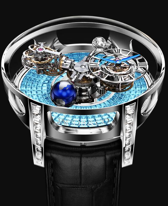 Jacob & Co AT800.30.BD.BI.B Astronomia Tourbillon Baguette Replica watch