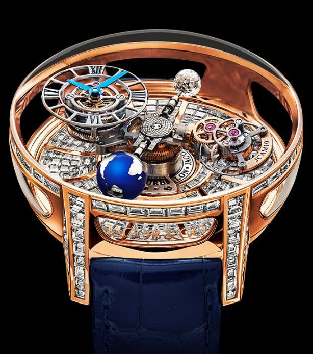 Jacob & Co Astronomia Tourbillon Baguette Revolution AT810.40.BD.BD.ABALA Replica watch