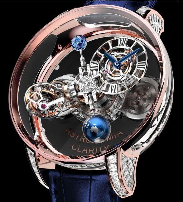 Jacob & Co ASTRONOMIA CLARITY ROSE GOLD BAGUETTE AT820.40.BD.SB.A Replica watch