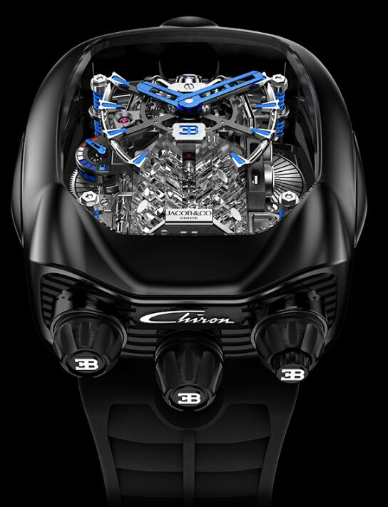Jacob & Co Bugatti Chiron Tourbillon BU200.21.AE.AB.ABRUA Replica watch